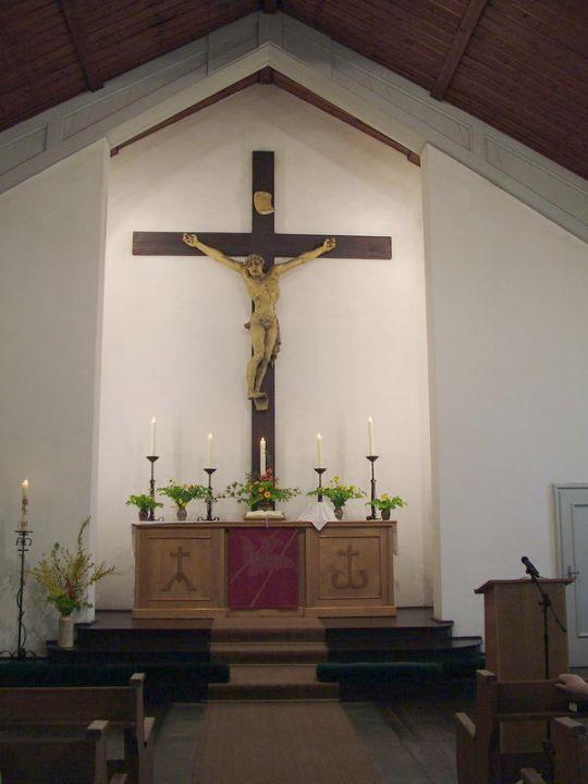 Altarraum der Kreuzkirche Gotha