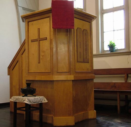 Kanzel der Kreuzkirche Gotha