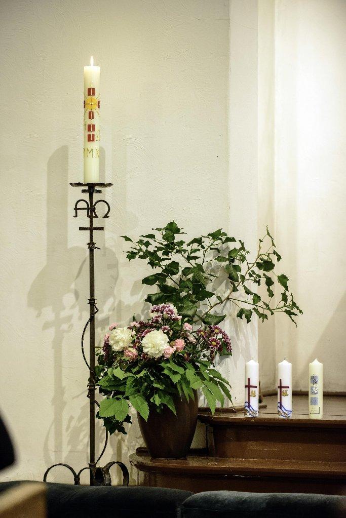 Altarraum der Kreuzkirche am Johannistag